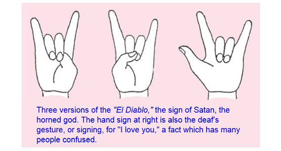 Satanic Hand Symbols And Their Meanings Animalcarecollegefo