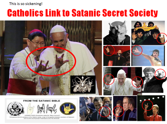Image result for pope francis satanic sign