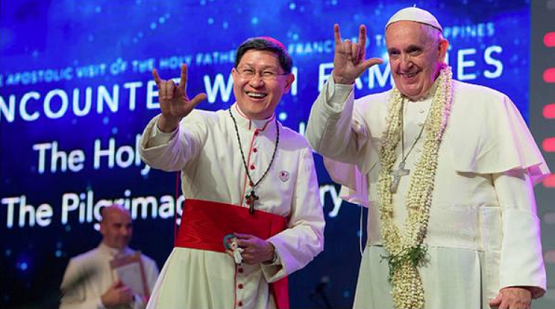 Image result for pope francis flashing el diablo