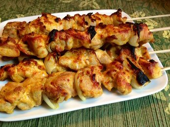 Today's Healthy Recipe: Yogurt Marinated Chicken Kebabs