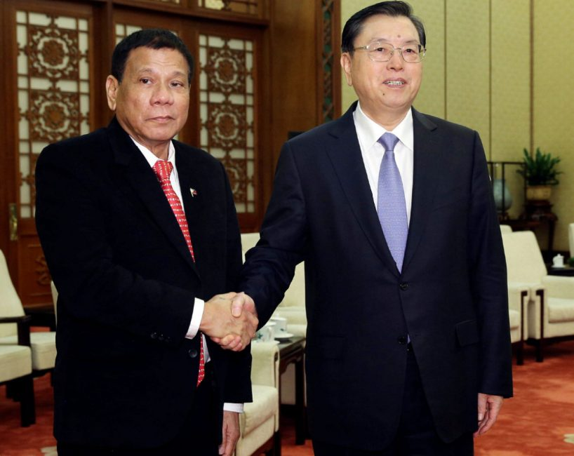 Philippines president Duterte announces 'separation' from US during China visit  Duterte-china